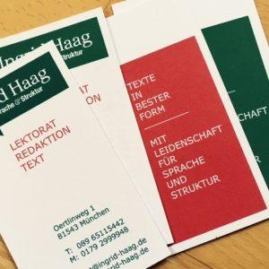 Ingrid Haag – Lektorat | Redaktion | Text