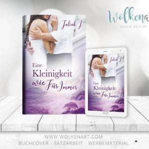 Wolkenart – Buchcover, Satzarbeit und Werbematerial